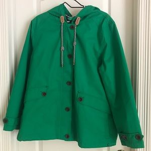 Joules Green Mariners Grade Lined Hooded Raincoat